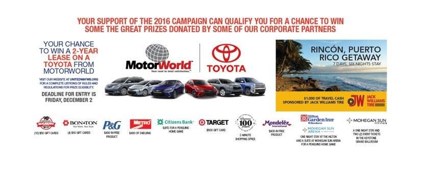 2016 Campaign Prizes